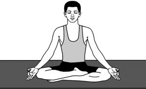 Siddhasana described in yoga is a meditative yogasana