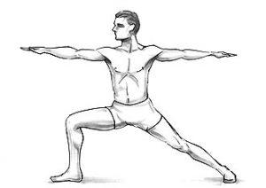 Veerabhadrasan or Warrior-Pose