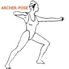 Archer pose or dhanurasana